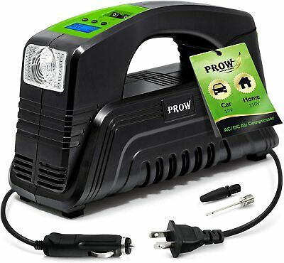 Prow Electric Air Compressor Tire Inflator Acdc Portable