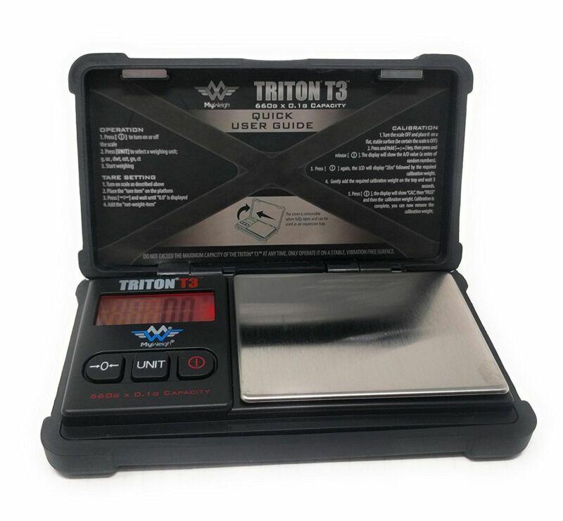 My Weigh Triton T3 660 Precision Pocket Scale 660g x 0.1g Ounce Tough Design