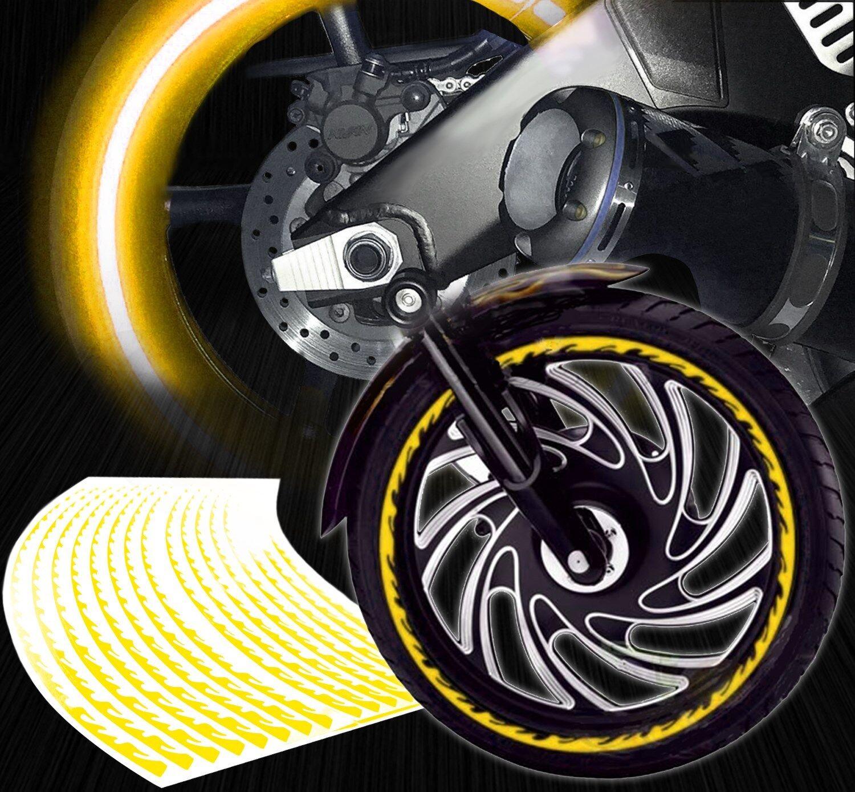 Reflective Wheel Rim Tape Stripes Yellow Fits All