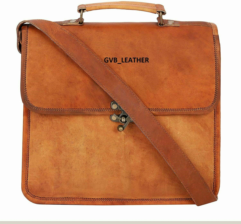 Vintage Case Laptop Satchel Bag Leather Typical Quality Men'