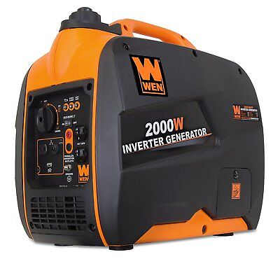 Wen 2000-w Portable Hybrid Gas Inverter Generator Quiet And Lightweight Home Rv