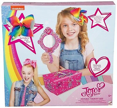 JoJo Siwa VANITY Set with Bow Storage Box and Mirror Limited Edition/Great Gift