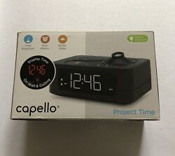 Capello Project Time Alarm LED Clock Laser Projection on Wall or Ceiling Black