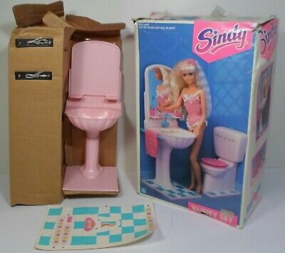HASBRO VTG 1991 SINDY VANITY SET FOR DOLL HOUSE C-151 EUROPEAN UNUSED BOXED