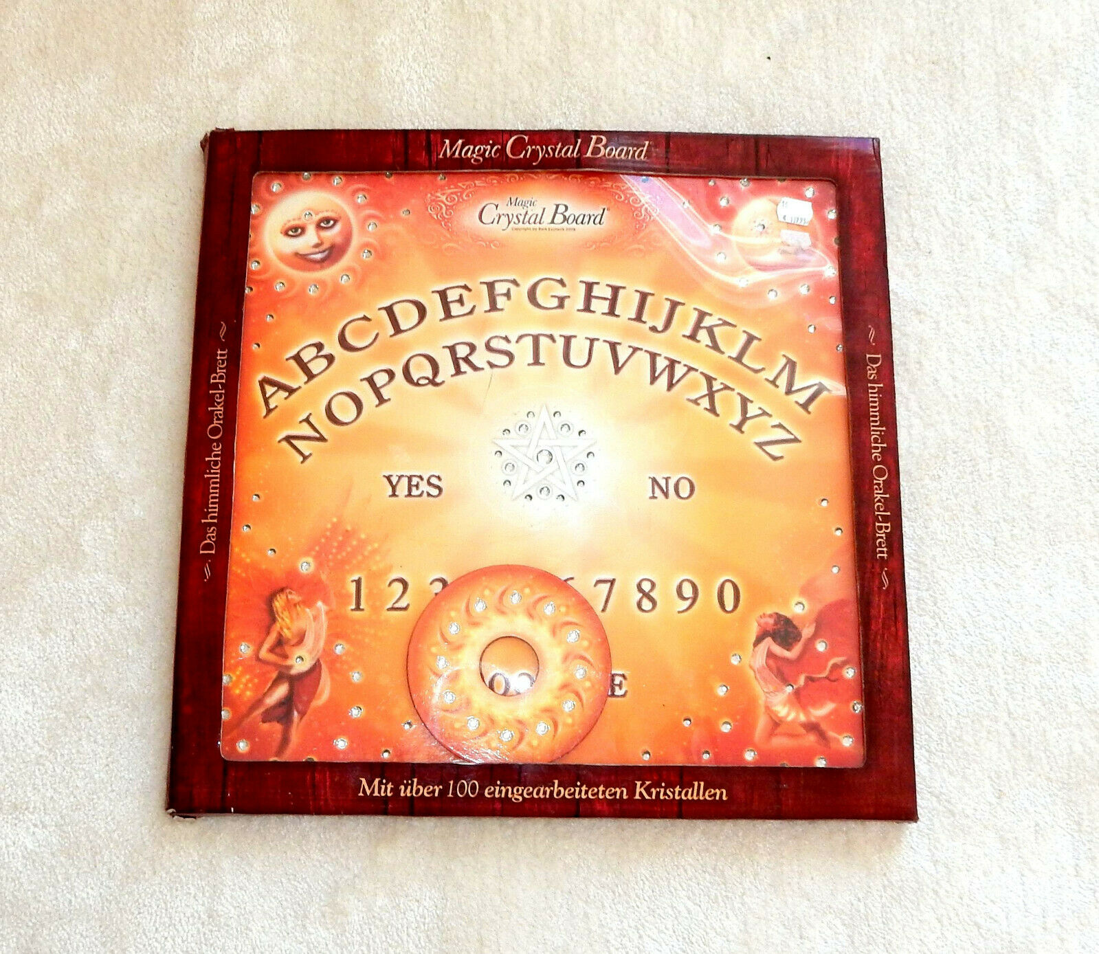 LUXUS MAGIC CRYSTAL BOARD Witchboard Geisterbeschwörung Hexenbrett Wicca Spirits