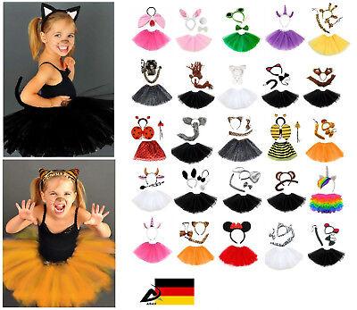 Kinder Tier Kostüm Fasching Karneval Halloween Tütü Ohren Schleife Haarreifen  ()
