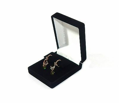 6 Drop Dangle Large Earring Black Velvet Gift Boxes Jewelry Display