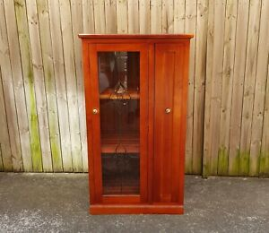 Large Solid Timber Display/Storage Cabinet.