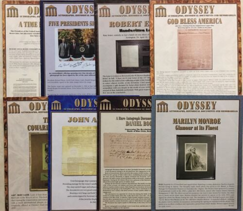 ODYSSEY THIN CATALOGS ENTERTAINMENT ICONS R&R POLITICAL SPORTS SPACE PLUS 8 pc