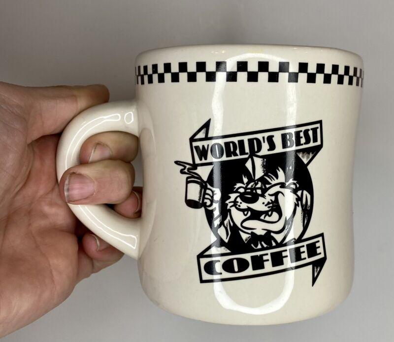 Vintage 1993 Warner Bros. Looney Toons Taz World's Best Coffee Cup Mug