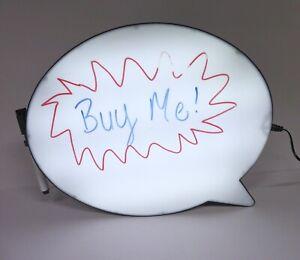 Custom speech bubble Lightbox sign