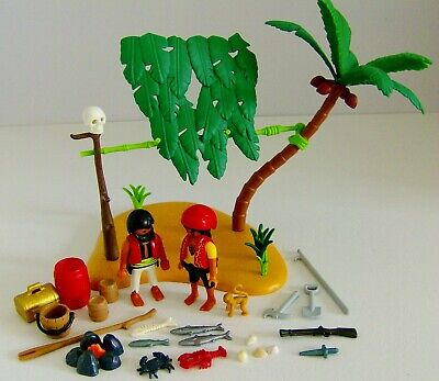 Playmobil Small Pirate Desert Island With Figures & Accessories