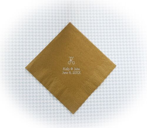 100 personalized beverage napkins for any occasion