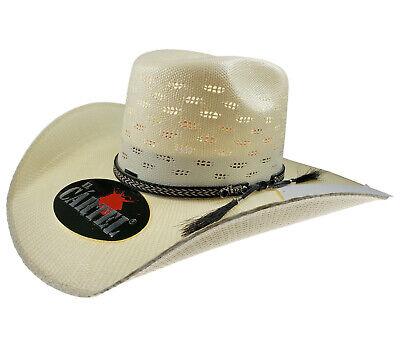 d188ef7f6fc28  39.99 - Men s Western Hat El General Sombrero 100X El Cartel Bangora 7  Lineas Ivory