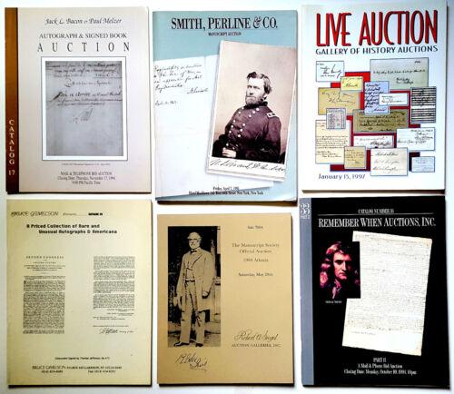 Lot of 6 various Autograph and Manuscript Auction Catalogs