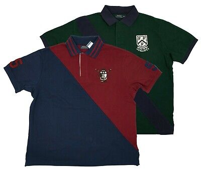 Polo Ralph Lauren Big and Tall Mens Green Navy Red Rugby Shirt Multisizes AS Big And Tall Rugby