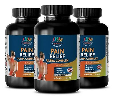 Stress supplement best - PAIN RELIEF ULTRA COMPLEX - 3 Bottles - msm for (Best Pain Relief For Migraine Headaches)