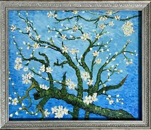 Oil painting of the almond blossom