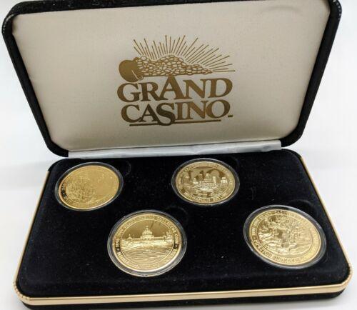 Grand Casino Collector Coin/Tokens Set Of 4 1998-1999