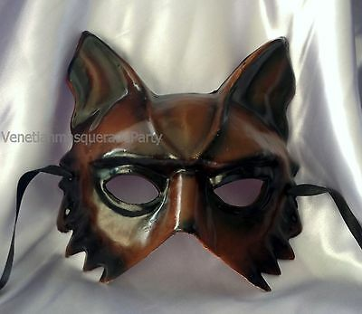Handmade Costume animal masquerade wolf mask boys mens midnight bachelor party](Boy Wolf Costume)