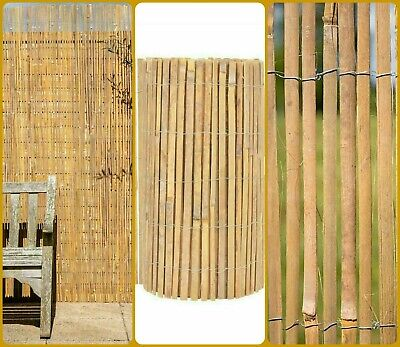 Bamboo Slat Natural Garden Fencing Privacy Fence Panel Screening Roll 1.8m x 4m