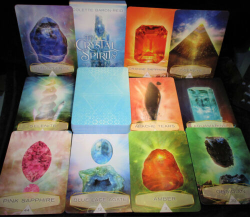 SEALED NEW! CRYSTAL SPIRITS CARDS & BOOK ORACLE GEMSTONE MESSAGES OF HEALING