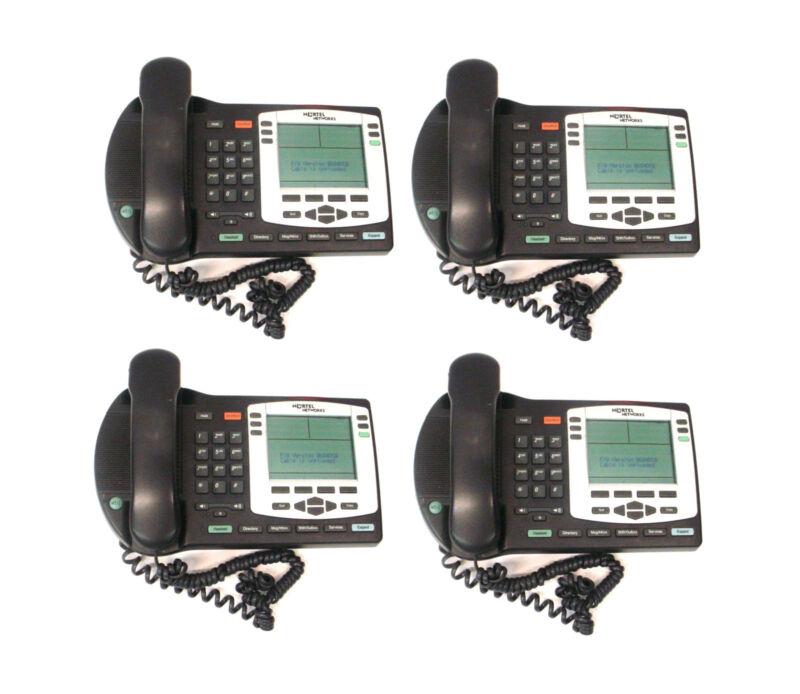 LOT OF 4 Nortel NTDU92 IP Phone 2004 VoIP Business Office Network Telephone