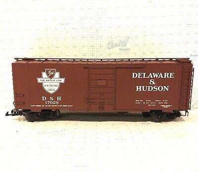 USA TRAINS G SCALE R19222A DELAWARE & HUDSON 40 FOOT BOX CAR ORIGINAL BOX