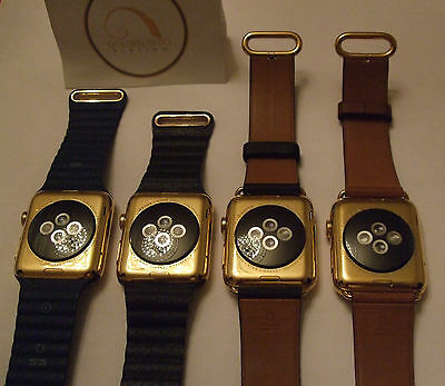 PROFESSIONAL 24CT GOLD PLATING SERVICE FOR APPLE WATCH 15 MICRONS 24K SERIES 4 3