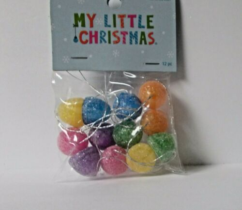 NEW MY LITTLE CHRISTMAS 12 PIECE GUMDROP CANDY MINI CHRISTMAS TREE ORNAMENTS