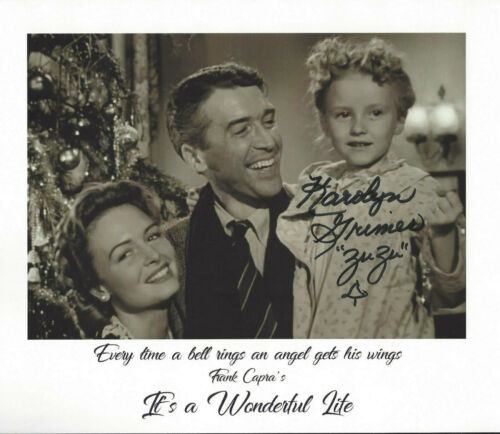 ZUZU  autographed 8x10  photo from the  Movie actress of It's a Wonderful Life*