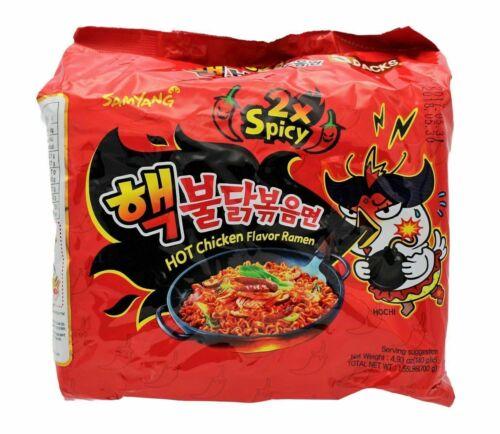 SAMYANG Korean Fire Challenge Buldak Noodle 2X Hot Spicy Chicken Flavor Ramen