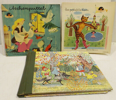 Livre de contes avec sigles schalltplatten gebr.grimm - schneewitchen,cendrillon