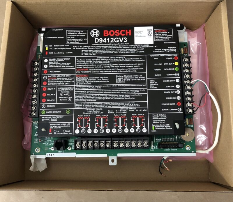 Bosch D9412GV3 Commercial Protected-Premises Control Panel