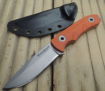 """Böker Magnum Messer """" Orange Outdoor """" Fahrtenmesser 440 Stahl + Kydexscheide"""