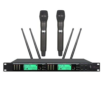 Best Wireless Vocal mic for Live Performance UHF Dual Wireless Stage
