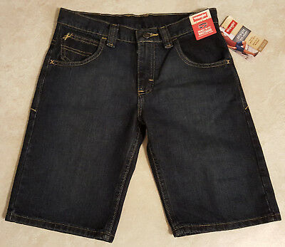 Boys Adjustable Waist Wrangler Straight 5 Pocket Jean Shorts ()
