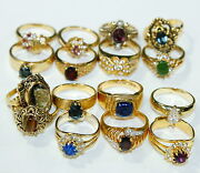 Vintage Jewelry Lot Rings