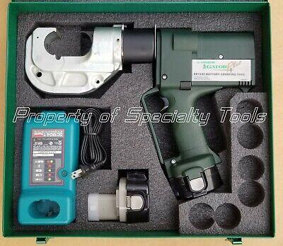 Greenlee Gator Ek1240 Battery Hydraulic Crimper 12 Ton U Die Crimping Tool