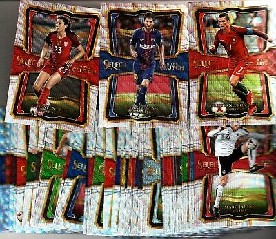 """2017-18 PANINI SELECT SOCCER """"IN THE CLUTCH"""" COMPLETE SET #1-40 LOADED SET $$"""