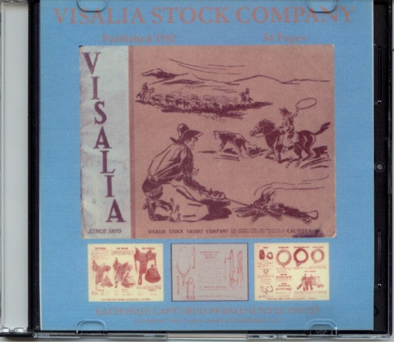 Visalia Stock Company Catalog Number 35 on CD - Saddles, Bit, Spurs