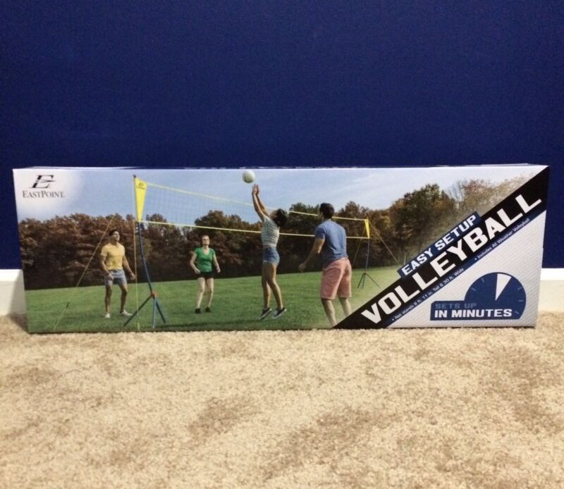 EastPoint Sports Easy Tripod Setup Volleyball Set, Portable, Factory Sealed