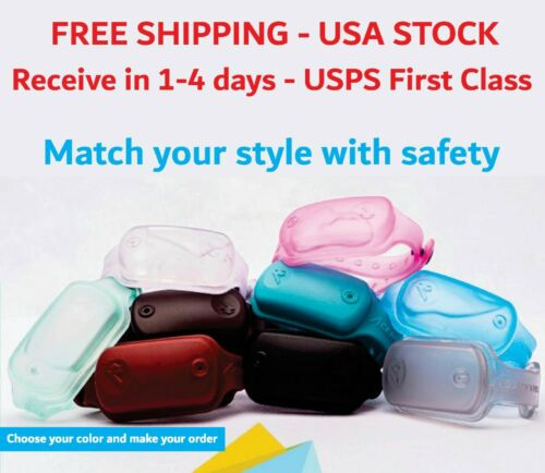Silicone Wristband with Liquid Dispenser, with refilling bottle- Holds 8ml