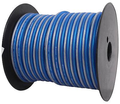 Rockville R14GBLS100 Silver/Blue 14 Gauge 100' Ft Spool Car Audio Speaker Wire