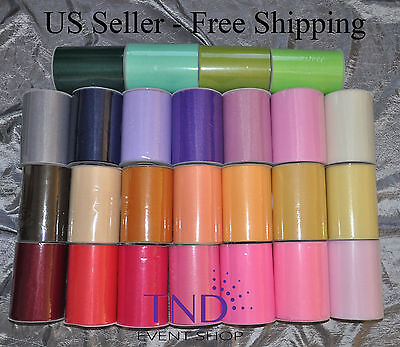 """- TULLE ROLL SPOOL 6""""x100 YDS (300 FT) TUTU WEDDING BOW GIFT CRAFT DECORATION"""