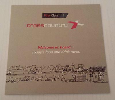 CROSS COUNTRY TRAINS MENU First Class Railway Dining Buffet Car Carriage 2015-16