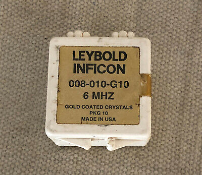 Leybold inficon 008-010-g10 6 MHz - gold coated crystals - 1 pc