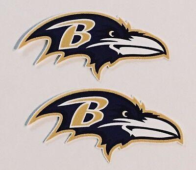 2x Baltimore Ravens Car Bumper Laptop  Window Wall Vinyl Stickers Decals Baltimore Ravens Window Decals