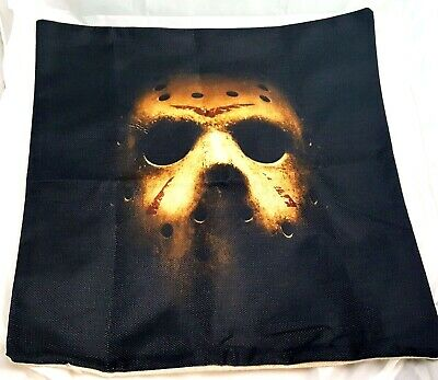 Friday the 13th Pillow Case Cover - Jason Voorhees Mask Horror Pillow - Pillowcase Halloween Mask