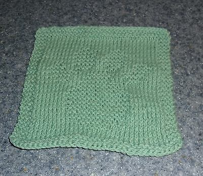 Brand New Hand Knit Dog Paw Print Design Cotton Dish Cloth 4 Dog Rescue Charity